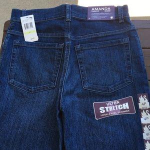"""NWT Gloria Vanderbilt """"Amanda"""" classic fit jeans"""